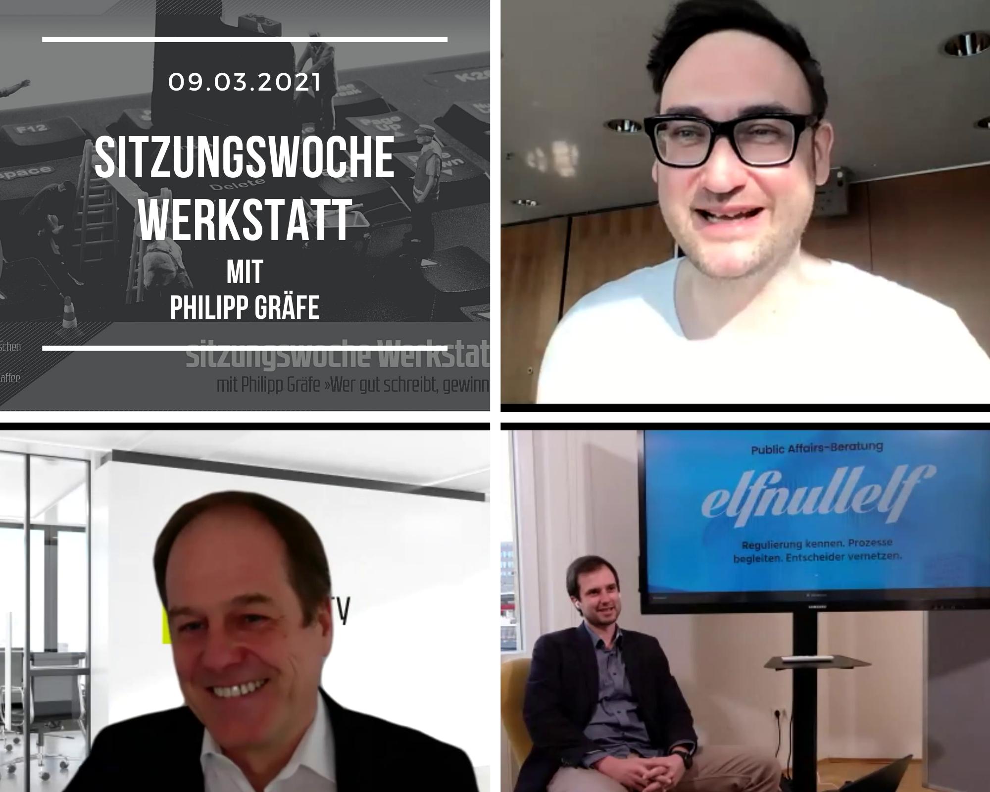 Sitzungswoche Werkstatt: Aufzeichnung 09.03.21 Digitale Politische Kommunikation Im MdB-Büro Mit Philipp Gräfe